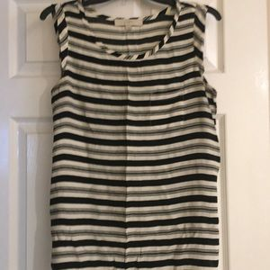 Striped LOFT Sleeveless Blouse